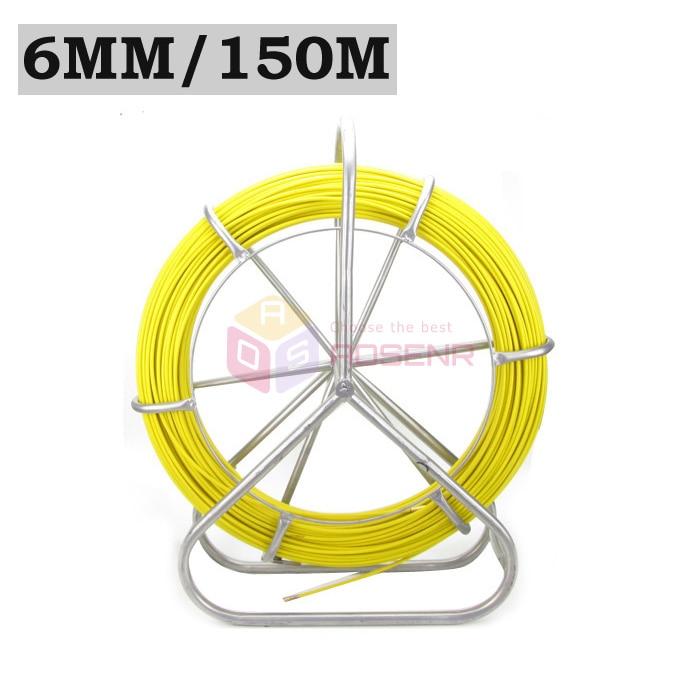 Fish Tape Fiberglass Wire Cable Running Rod Duct Rodder Fishtape Puller 6mm Good
