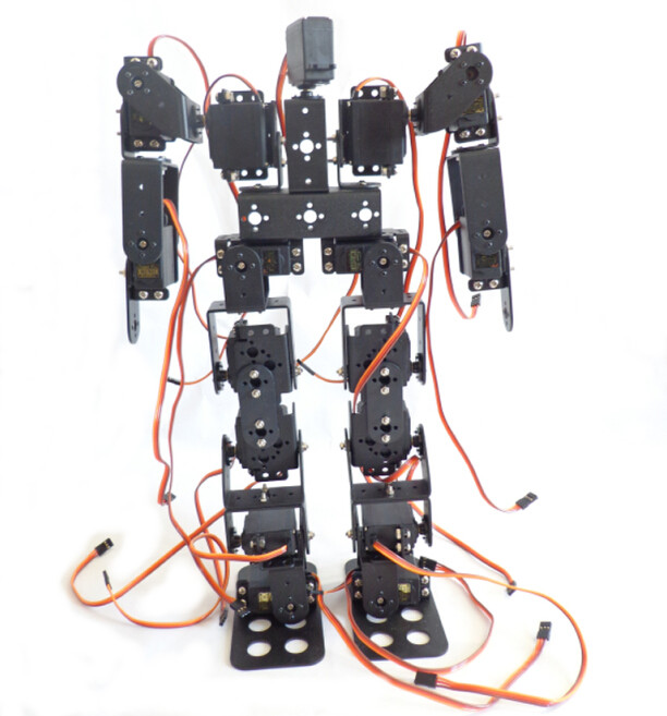 17DOF Biped Robotic Educational Robot Humanoid Robots Kit Servo Bracket for Kids Toy Accessories F17326