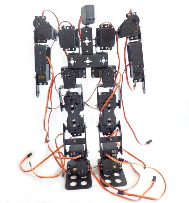 17dof biped robotico robo educacional robos humanoides kit suporte servo para criancas acessorios de brinquedo f17326