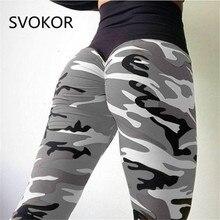 Svokor Camo Printing Fitness Leggings Vrouwen Hoge Wist Polyester Broek Comfortabel Workout Push Up Mode Vrouwen Leggings
