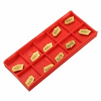 10pcs ZQMX4N11 1E SP400 Cemented Turning Tools Carbide Inserts Carbide Cutter Gold Grooving Cut Off Blade