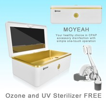 MOYEAH CPAP Cleaner and Sanitizer Cpap Cleaning Supplies Ozone Free UV for cpap Mask Air Tubes Machine with Nasal mask