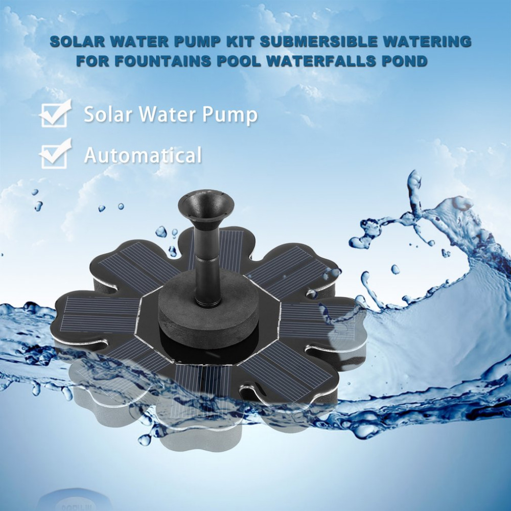 Solar Water Pump Kit Solar Powered Panel Submersible Garden Plants Watering for Automatical Fountains Pool Waterfalls Pond
