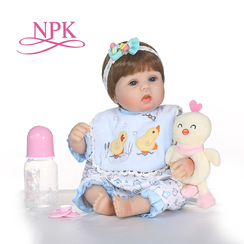 Soft Silicone bebes Reborn Baby Dolls with sleeping bag Toy For Girl NewBorn Baby Birthday Gift