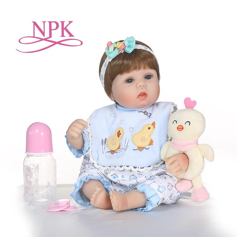 부드러운 실리콘 bebes reborn 아기 인형 잠자는 가방 장난감 신생아 아기 생일 선물 어린이 취침 시간 크리스마스 선물-에서인형부터 완구 & 취미 의  그룹 1