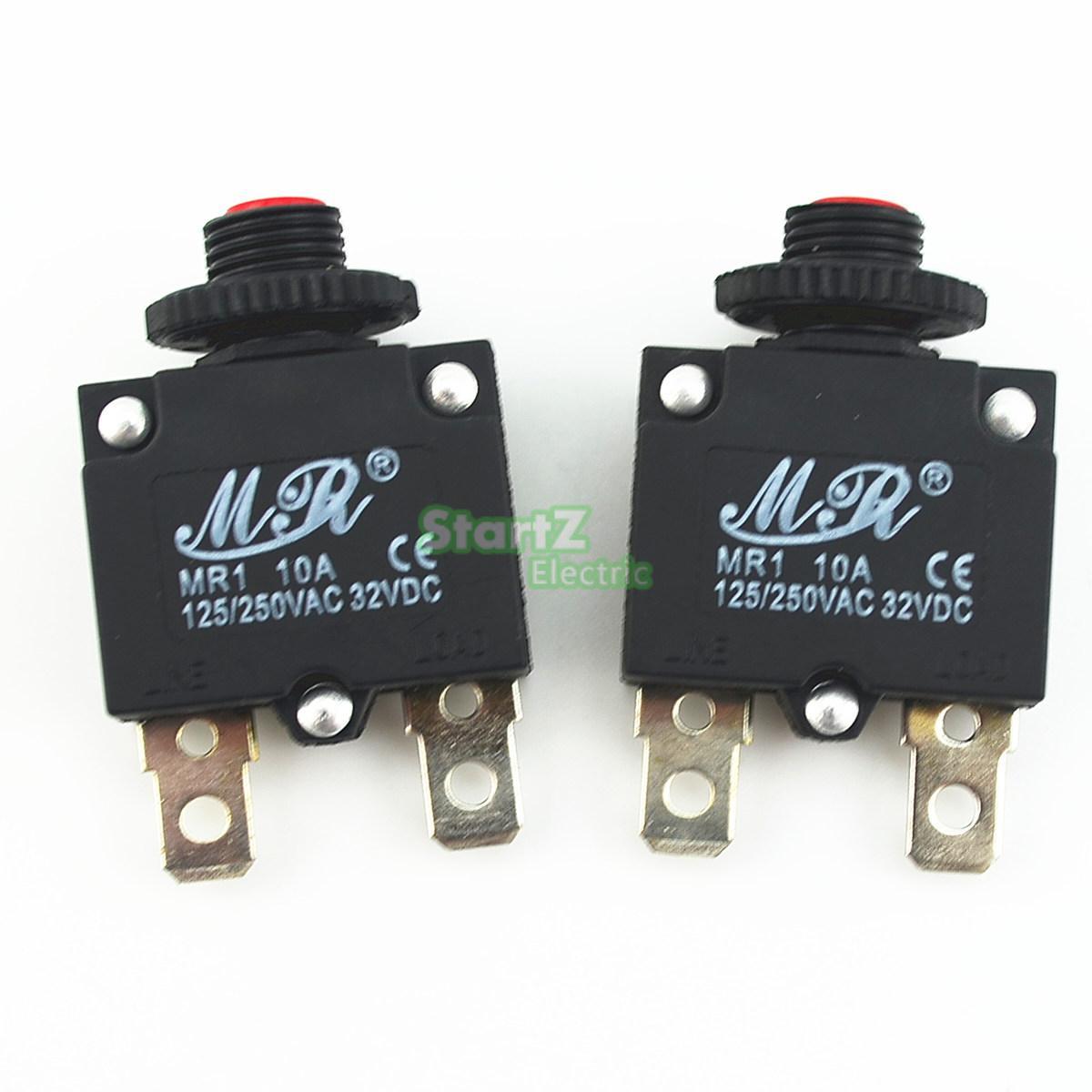 10Pcs 10A Circuit Breaker Overload Protector Switch Fuse leakage circuit protector air switch residual current circuit breaker dz15le 100 490 100a