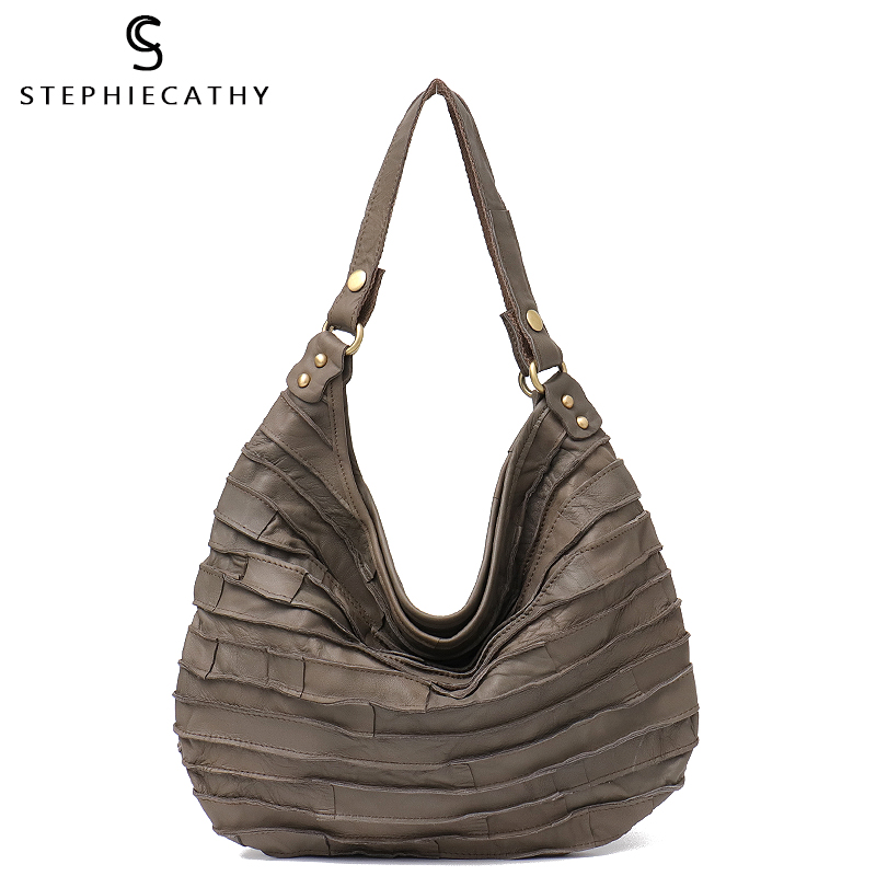 SC Small Luxury Leather Handbags Shoulder Bag Women Messenger Bags Real Joint Leather Patchwork Hobo Bags