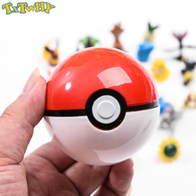 13Pcs Pokeball + free Random Toy Action Figure Toys for children Cool collection toys Kid Birthday Gift
