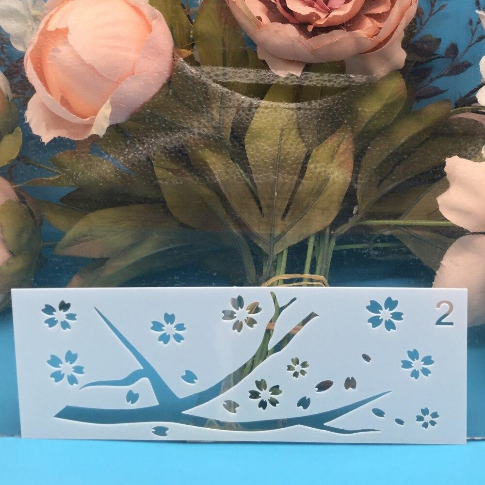 15x5cm Tree Plum DIY Craft Layering Stencils Wall Paint Scrapbook Stamp Embossing Album Decorative Card Template