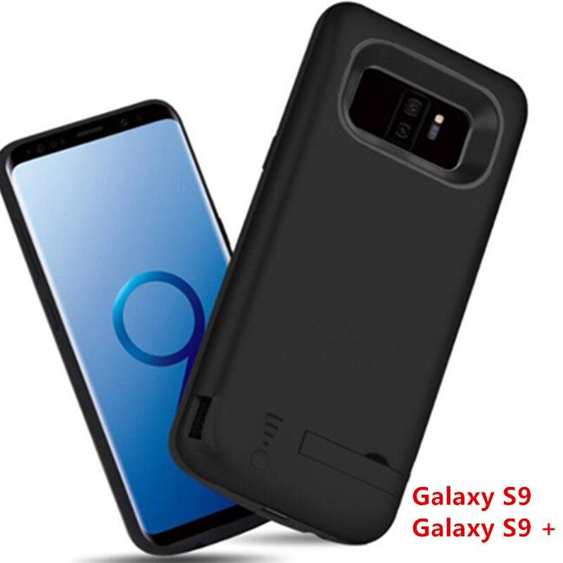 Batterie externe de secours borne chargeuse portable couverture arrière batterie pour Samsung Galaxy S9 S9 Plus 5000 mAh 6000 mAh chargeur de téléphone