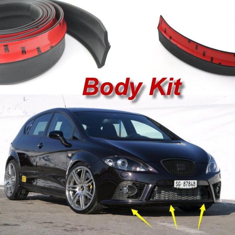 Lyudmila Voor Seat Leon 1 M 1 P 5f Bumper Lip Maken Auto Onderlichaam Kit Voor Achter Rok Spoiler Bumper Deflector Rubber Strip Bumper Lip Body Kitbumper Deflector Aliexpress