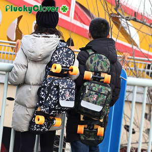Image 4 - 迷彩スケートボードバッグアウトドアスポーツショルダーバッグダブルロッカーハンドバッグクロスボディ旅行ハイキングキャンプバックパック multifuncton