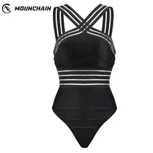 Mounchain Women Sexy Straps Swimsuit One Piece Unique Swimming Set Beachwear