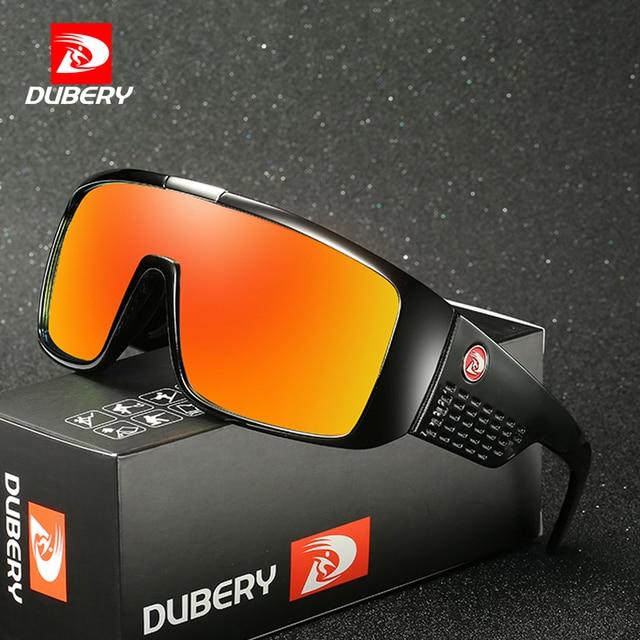 DUBERY Brand Design UV400 Sunglasses Mens Retro Male Goggle Colorful Sun Glasses For Men Fashion Mirror Shades Oversized Oculos