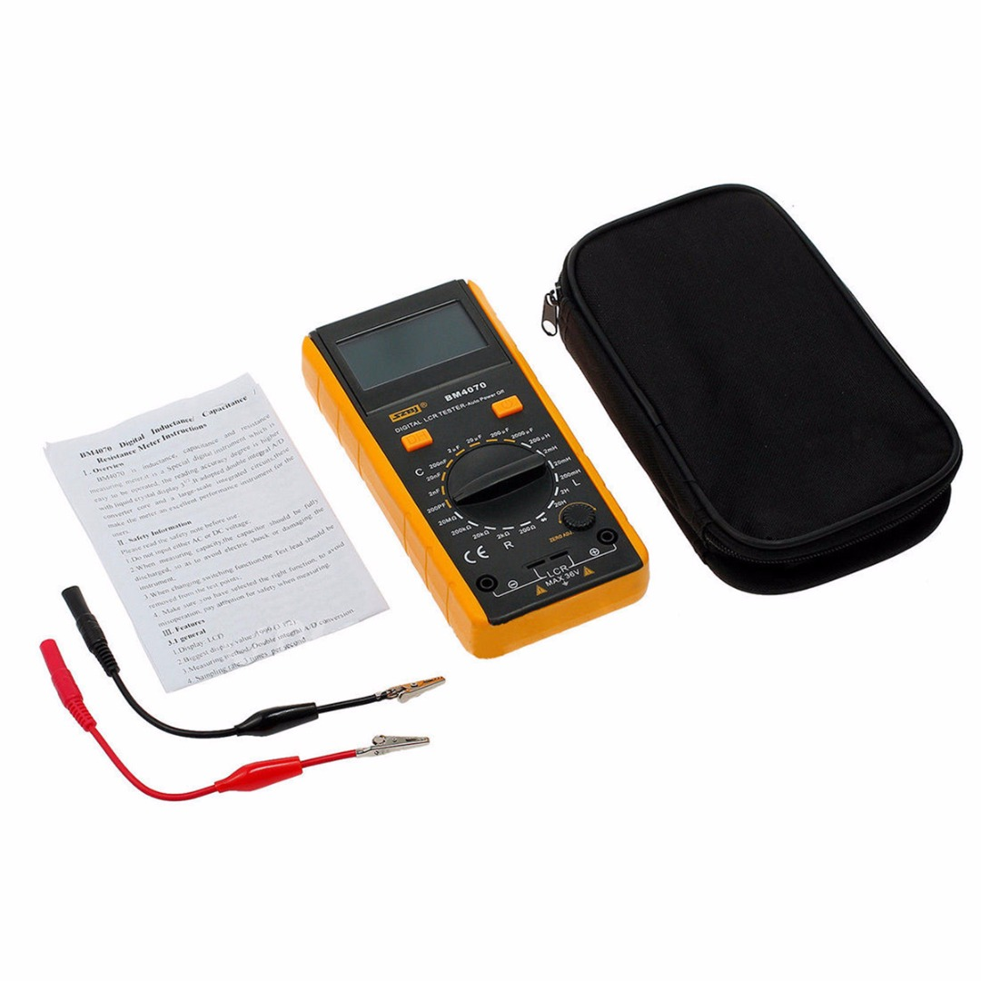 BM4070 Digital Multimeter LCR Capacitor Tester Probe Professional Capacitance Meter Multimeters Measuring Voltage Current cnim hot m6013 autorange digital capacitor capacitance circuit tester meter multimeter yellow