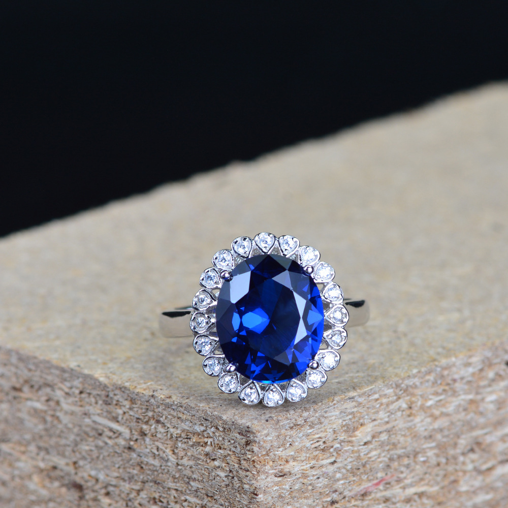 925 Sterling Silver  Women  Sapphire  Sapphire Ring Silver 925  Designer Jewelry Luxury  Fashion Jewelry Wedding Gifts For Parti