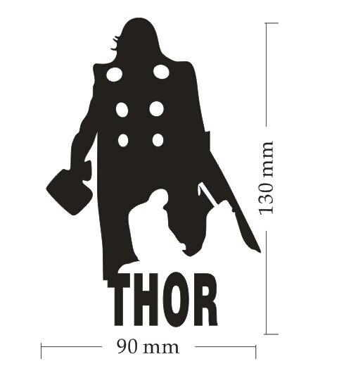 New design thor vinyl car window adhensive sticker