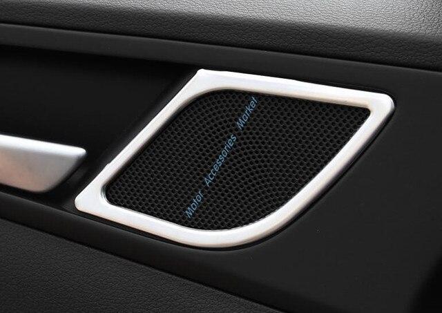 Auto Styling Innentür Stereo Lautsprecher Ringabdeckung Lautsprecher Dekoration Trim Für 2016 Tucson 2 teile/satz Edelstahl