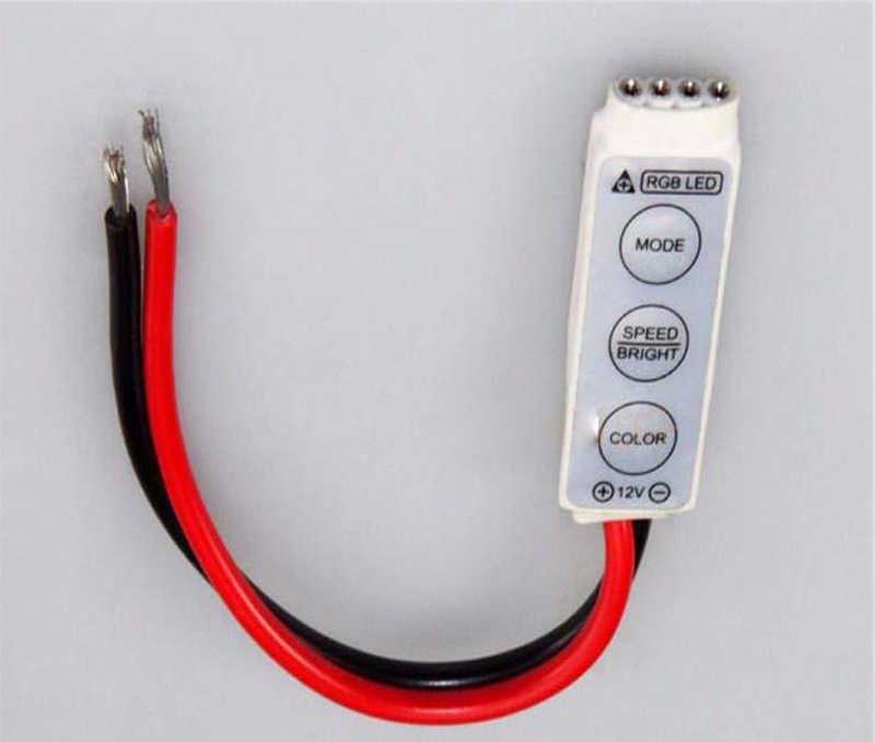 LED 3 24keys IR Remoto Dimmer Controlador Sem Fio Para 3528 5050 SMD RGB Tiras New Led RGB Controlador Sem Fio