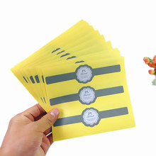 30pcs/lot New Vintage Gray Long Strip Handmade Seal Christmas DIY Note Gift  Labels