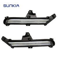 2pcs Set SUNKIA Car LED Daytime Running Lights DRL Car Styling Driving Light For Kia Rio