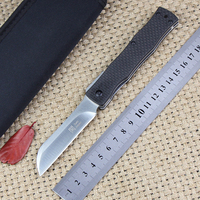High Quality Japan Razor D2 Steel Folding Knife Outdoor Pockets Knives Hunting EDC Hand Tools Carbon