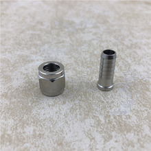 Female Flare FFL Stainless Swivel Nut 1/4 to 1/4 Barb or 5/16 Barb Adapter Kegging Homebrew Cornelius Keg MFL Quick Connectors barb wire omnibus volume 1