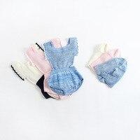 Bebek Kız Sonbahar Bahar Örme Jumper Tulum Şapka Şeker Renk Batı Ins ile Sıcak Satmak Sevimli Yürüyor Çocuk Giyim