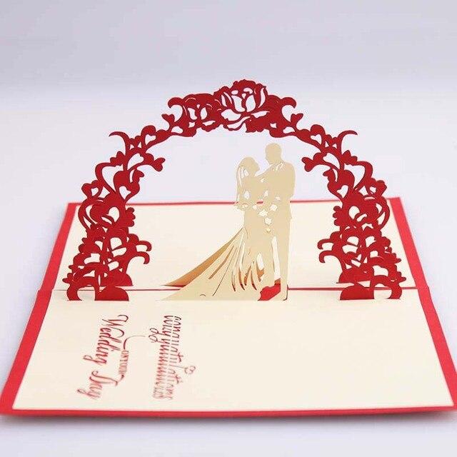 3d Pop Up Wedding Silhouette Grusskarte Papier Carving Romantische