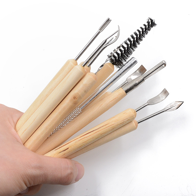 11pcs Perfect Clay Sculpting Knife Kit Sculpt Smoothing Wax Carving Pottery Ceramic Tools Polymer Shapers Modeling Carved Tool