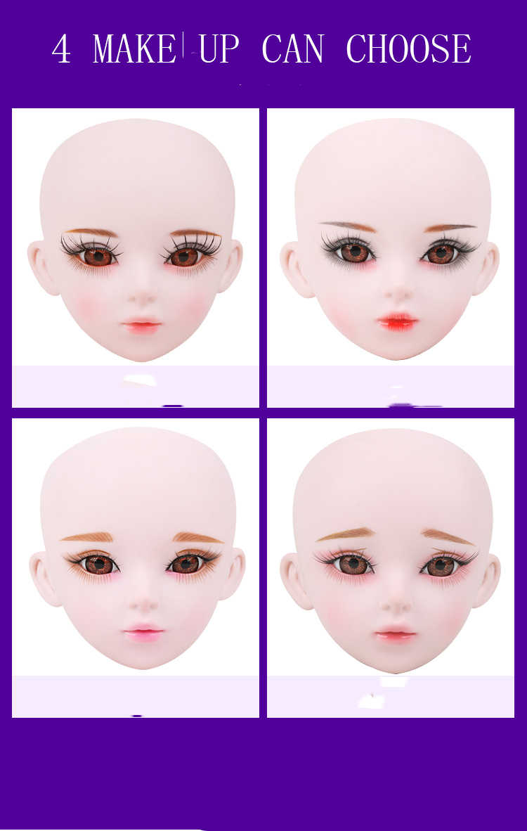 1/3 bjd boneca 56cm plástico conjunta móvel boneca nu 20190103, boneca da forma