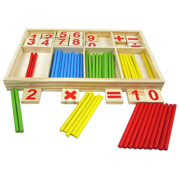 Children Wooden Mathematics Puzzle Toy Educational Number ...