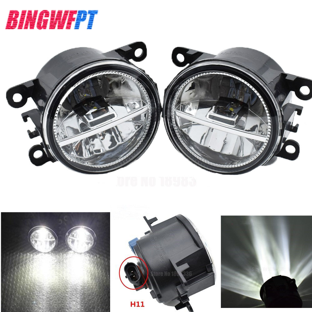 2pcs set For Mitsubishi Outlander XL 2007 2013 Angel Eyes Car styling front bumper LED fog