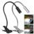 Vendas 3 W Tubos de Metal Flexível Pescoço de Ganso USB candeeiro de Mesa LED/Luz Desk com Clip