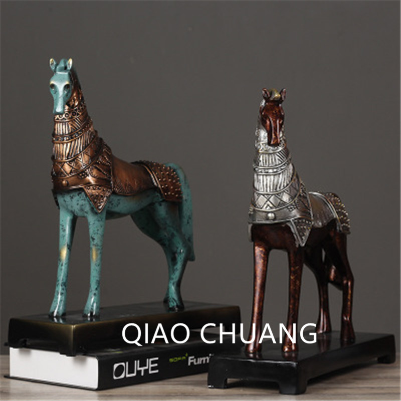 36CM Creative Chinese Style Simulation Bronze War Horse 2colour Bronze Silver Bronze Gold Home Furnishing Articles G797 все цены