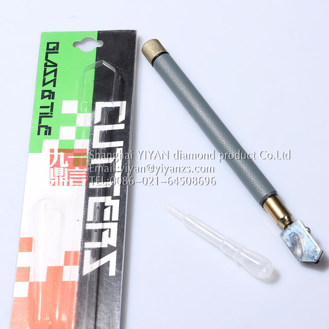 1pc Carbide Gl Cutter Tile Oil Feed With Metal Handle Shap Edged Cutting Tool