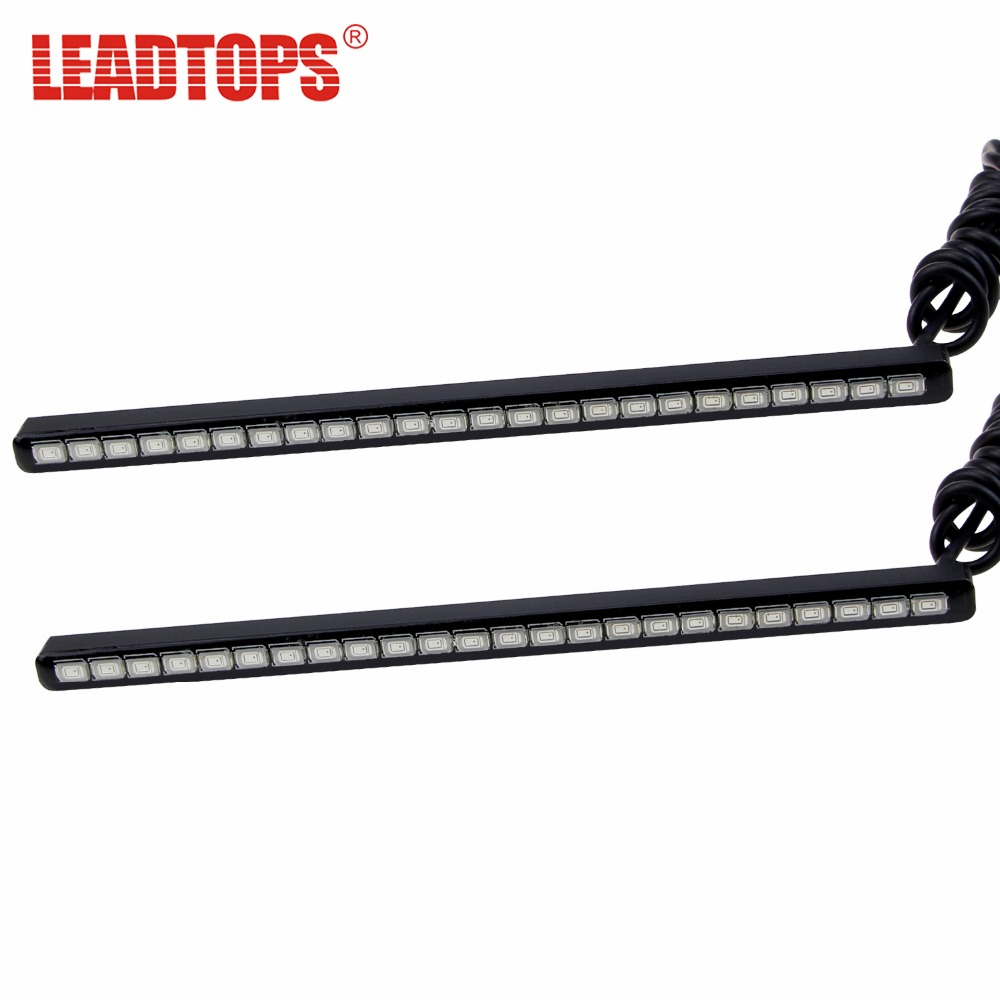 LEADTOPS 18/24/<font><b>30</b></font> Bright <font><b>Bar</b></font> <font><b>LED</b></font> DRL 12-20cm SMD5630 <font><b>LED</b></font> Car DRL Fog Light Daytime Running Light Invisible Waterproof <font><b>LED</b></font> BJ image