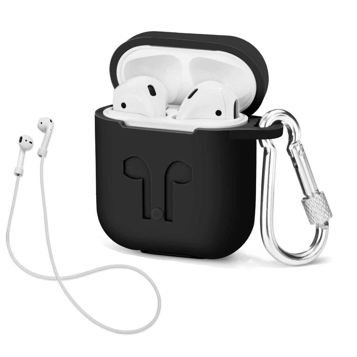Airpods With Strap Protective Silicone Soft Cover For Apple Iphone 7 8 X Plus Wireless Earphone Accessorie