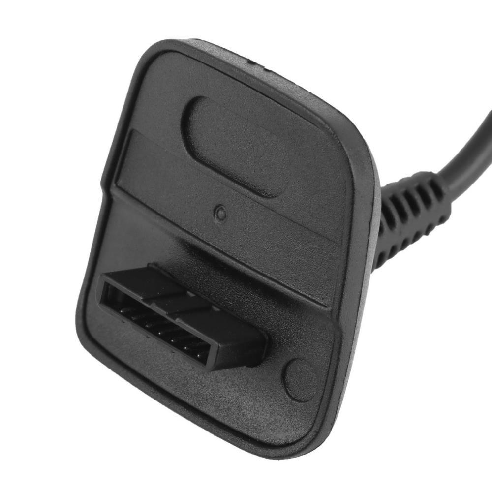 1pcs New USB Play&Charger Charge Cable Adapter For Xbox 360 Controller black