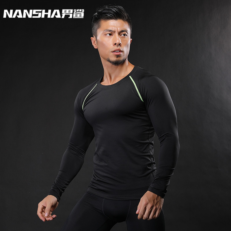 Mens Fitness 3D Prints Long Sleeves   T     Shirt   Men Bodybuilding Skin Tight Thermal Compression   Shirts   MMA Crossfit Workout Top