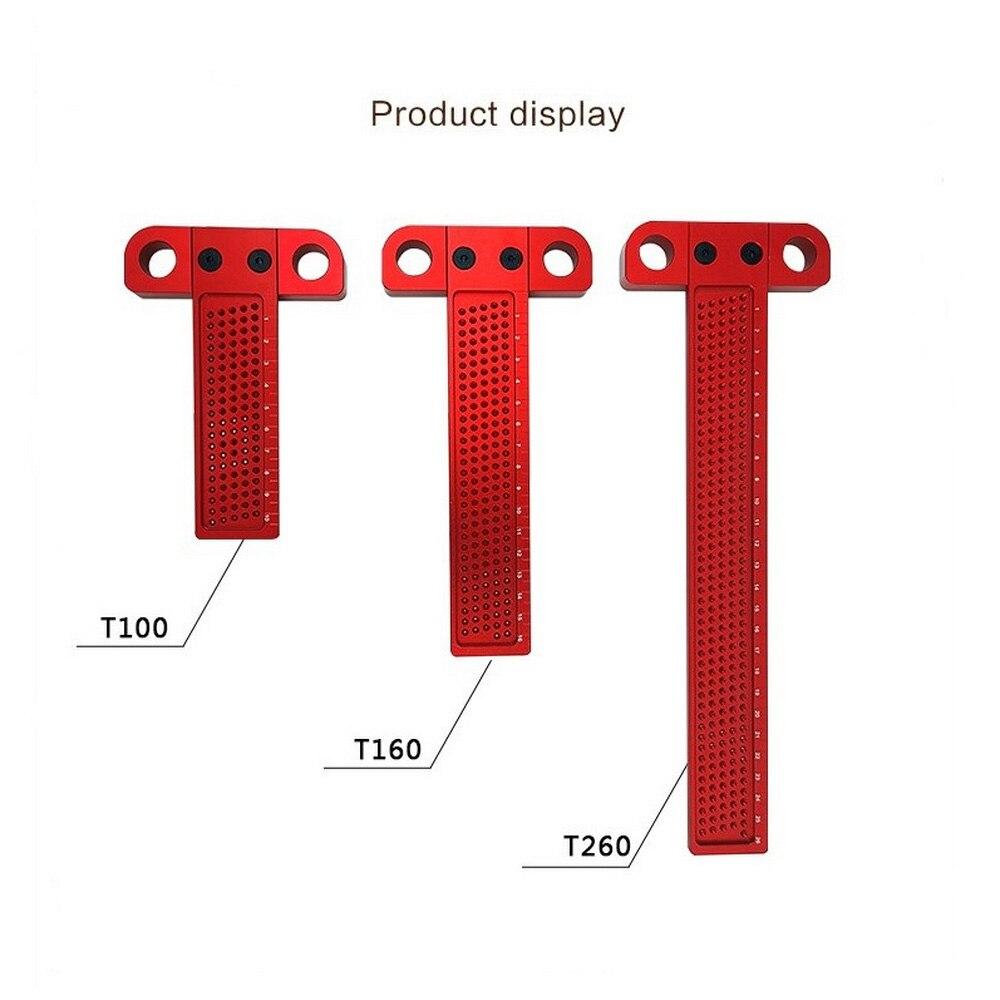 Woodworking Scribe Mark Line Gauge T-type Crossed Ruler Aluminum Alloy Scriber For Carpenters Precision Measuring Tools