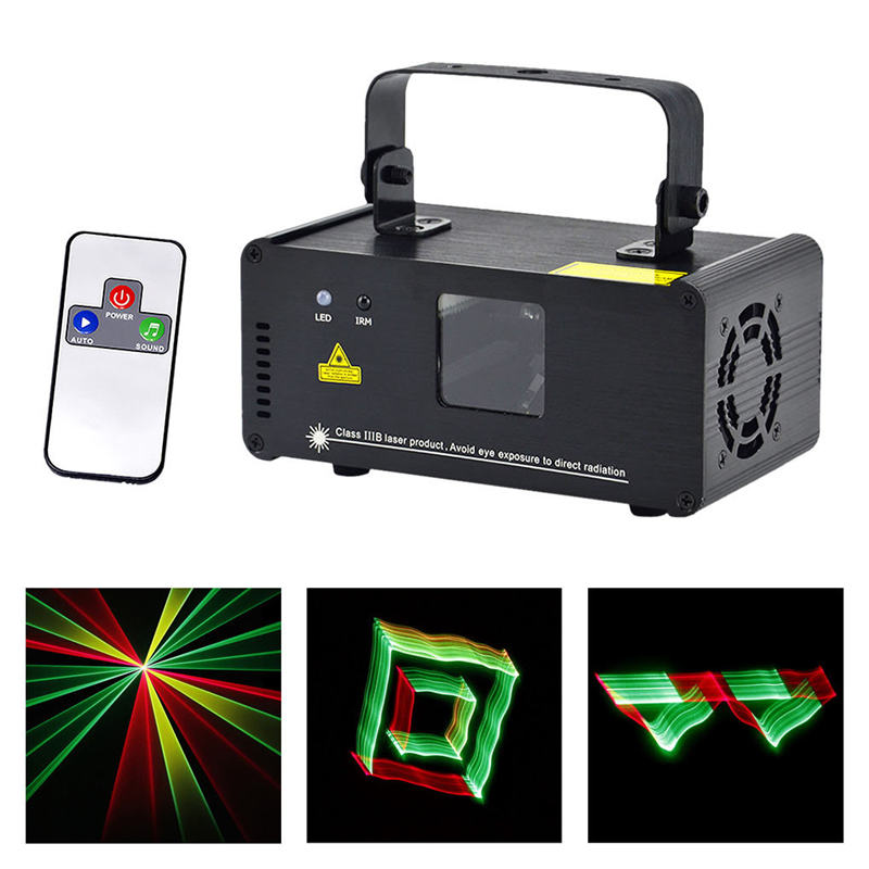 AUCD Mini IR Remote DMX512 3D Effect 250mW RGY Laser DPSS Scanner Light PRO DJ Disco Party Stage Lighting Show System TDM-RGY250 ...