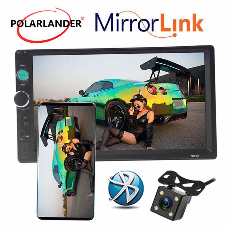 7 Inch Bluetooth Mobil MP5 Radio Cassette HD Touch Screen Handsfree TFT Mobil Auto Radio FM USB TF AUX Di 2 DIN Cermin Link