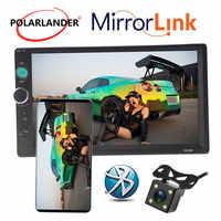 7 cal samochodowy Bluetooth MP5 radio odtwarzacz kasetowy ekran dotykowy HD zestaw głośnomówiący TFT samochodu radio samochodowe FM USB TF AUX w 2 DIN lustro Link