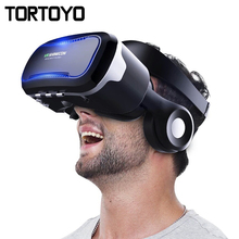 Original VR Shinecon 4.0 Virtual Reality Headset 3D Glasses Google VR With HIFI Headset Headphone for 3.5-6.0″ Smart Phones