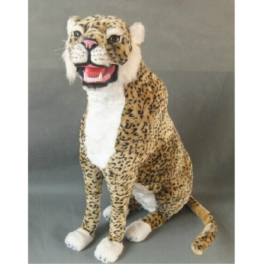 Fancytrader Simulation Animals Panther Toy Model ,Polyethylene&Faux Furs Leopard Handicraft Decoration Dolls 70cm simulation chicken 38x16x42cm toy model polyethylene