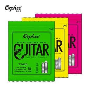 Image 4 - Orphee cordes de guitare acoustique, noyau Hexagonal, entièrement 8% nickel, ton brillant en Bronze, lumière Extra légère, 1 jeu, offre spéciale
