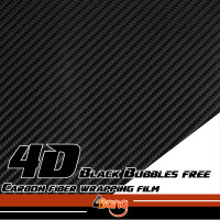 Black/White/Silver/Red 4D Carbon Fiber Vinyl Film Sticker Wrap Decal Bubble Free For Car Body Hood Roof Fender 1.52x10/20/30m