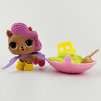 New Version Lol Pet With Dynamic Sand Original Cat Puppy Animal Little Girl Figure In Ball