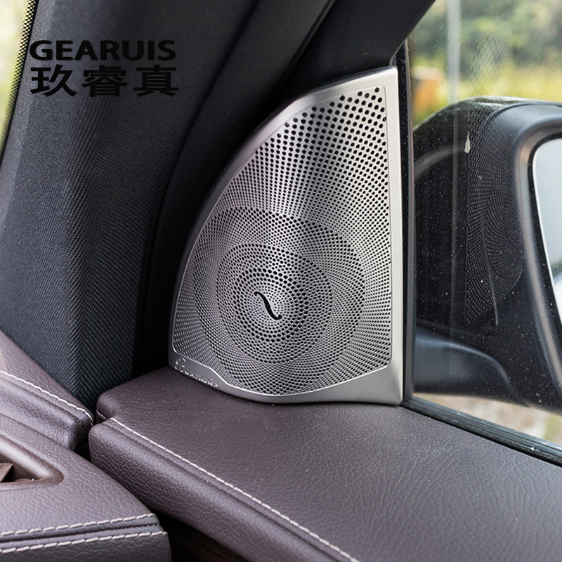 Car Styling High Pitch Loudspeaker Cover Audio Speakers Stickers Covers Frame For Mercedes Benz GLC Class X253 auto Accessories 11pc x canbus no error led interior dome light lamp kit package for mercedes benz glc class x253 glc250 glc300 glc350 2015